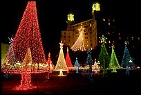 Christmas illuminations in front of the Arlington Hotel. Hot Springs, Arkansas, USA