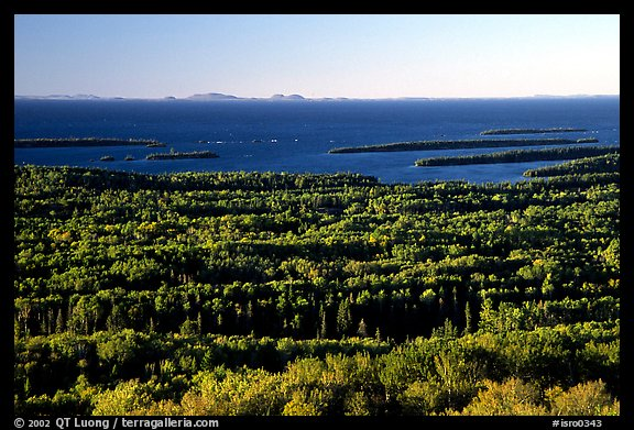 View from Mount Franklin. Isle Royale National Park (color)