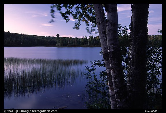 West Chickenbone lake at dusk. Isle Royale National Park (color)