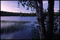 West Chickenbone lake at dusk. Isle Royale National Park, Michigan, USA. (color)
