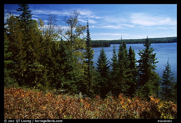 Lake Richie. Isle Royale National Park (color)