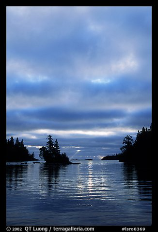 Early morning on Chippewa harbor. Isle Royale National Park (color)