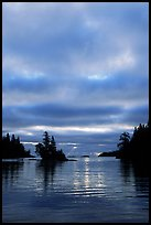 Early morning on Chippewa harbor. Isle Royale National Park ( color)