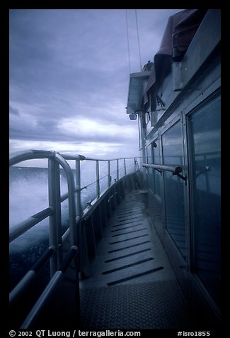 Ferry battered by a severe storm. Isle Royale National Park (color)