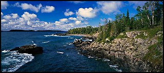 Rocky Lakeshore. Isle Royale National Park (Panoramic color)