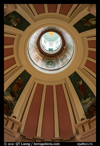 picture photo dome roof interior old courthouse gateway arch national park. Black Bedroom Furniture Sets. Home Design Ideas