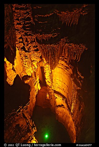 Crystal Lake seen from shaft above. Mammoth Cave National Park (color)