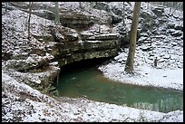 Styx resurgence in winter. Mammoth Cave National Park, Kentucky, USA. (color)
