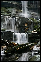 Stream cascading over limestone rocks. Mammoth Cave National Park, Kentucky, USA.