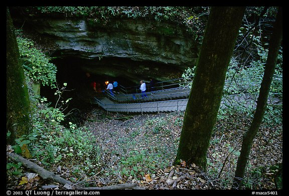 Historic entrance of the cave. Mammoth Cave National Park (color)
