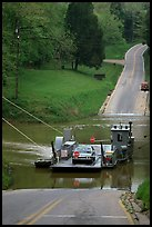 Green River ferry crossing. Mammoth Cave National Park, Kentucky, USA. (color)