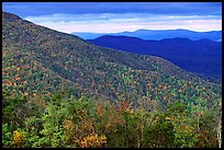 Hillsides in autumn. Shenandoah National Park, Virginia, USA. (color)