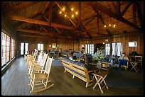 Interior hall of Shenandoah Lodge. Shenandoah National Park, Virginia, USA. (color)