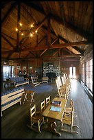 Main guest  hall of Shenandoah Lodge. Shenandoah National Park, Virginia, USA.