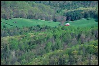 Barn in a meadow. Shenandoah National Park ( color)