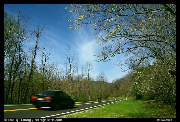 Car on Skyline drive. Shenandoah National Park (color)