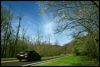 Car on Skyline drive. Shenandoah National Park ( color)