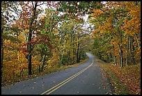 Skyline Drive in autumn. Shenandoah National Park, Virginia, USA. (color)