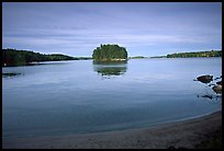 Island on Kabetogama lake near Ash river. Voyageurs National Park, Minnesota, USA.