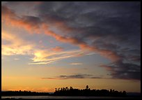 Clouds at sunset, Kabetogama lake. Voyageurs National Park, Minnesota, USA.