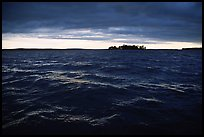 Choppy Kabetogama waters during a storm. Voyageurs National Park, Minnesota, USA.