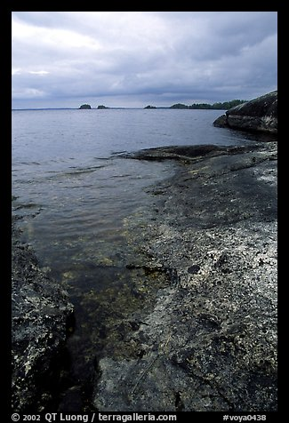 Coastline, Rainy lake. Voyageurs National Park, Minnesota, USA.