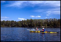 Modern Voyageurs in kayaks. Voyageurs National Park ( color)