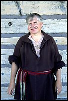Park staff member wearing  outfit similar to that worn by the Voyageurs. Voyageurs National Park ( color)