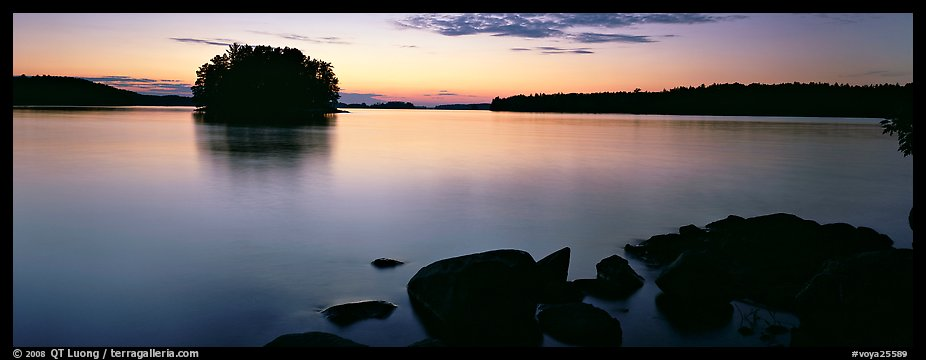 Calm evening over Kabetogama Lake. Voyageurs National Park (color)