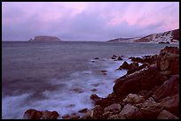Prince Island and Cuyler Harbor, dusk, San Miguel Island. Channel Islands National Park, California, USA.