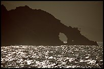 Sea arch, Santa Cruz Island. Channel Islands National Park, California, USA. (color)