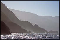 Coastline and ridges, Santa Cruz Island. Channel Islands National Park, California, USA.