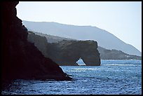 Coastline with sea arch, Santa Cruz Island. Channel Islands National Park, California, USA.