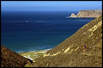 Nidever canyon overlooking Cyler harbor, San Miguel Island. Channel Islands National Park, California, USA. (color)
