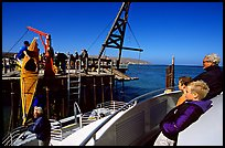 Loading  Island Packers boat, Santa Rosa Island. Channel Islands National Park, California, USA. (color)