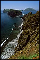 Cliffs near Inspiration Point, East Anacapa Island. Channel Islands National Park ( color)
