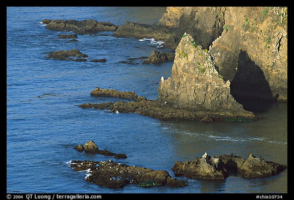 Rocky shoreline of Middle Anacapa Island. Channel Islands National Park (color)