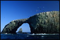 Arch Rock, East Anacapa. Channel Islands National Park, California, USA. (color)
