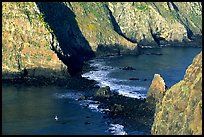 Channel between East Anacapa and Middle Anacapa at low tide. Channel Islands National Park, California, USA.