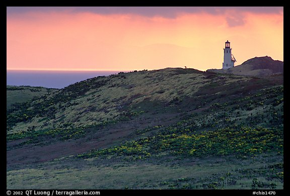 Lighthouse, East Anacapa Island. Channel Islands National Park (color)