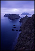 View from Inspiration Point, dusk. Channel Islands National Park, California, USA. (color)