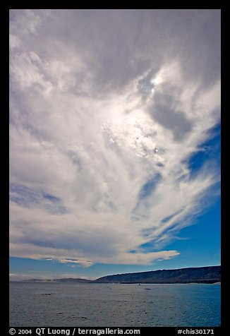 Clouds and Santa Rosa Island. Channel Islands National Park, California, USA.