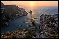 Potato Harbor cove at sunset, Santa Cruz Island. Channel Islands National Park ( color)