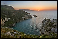Sunset, Potato Harbor, Santa Cruz Island. Channel Islands National Park, California, USA. (color)