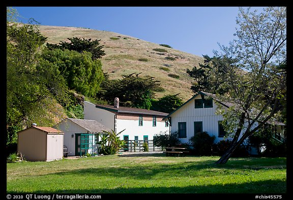 Historic Scorpion Ranch, Santa Cruz Island. Channel Islands National Park (color)