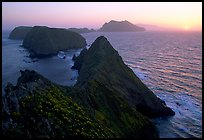 Inspiration point, sunset, Anacapa Island. Channel Islands National Park, California, USA.