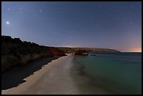 Bechers Bay and Carrington Point at night, Santa Rosa Island. Channel Islands National Park ( color)