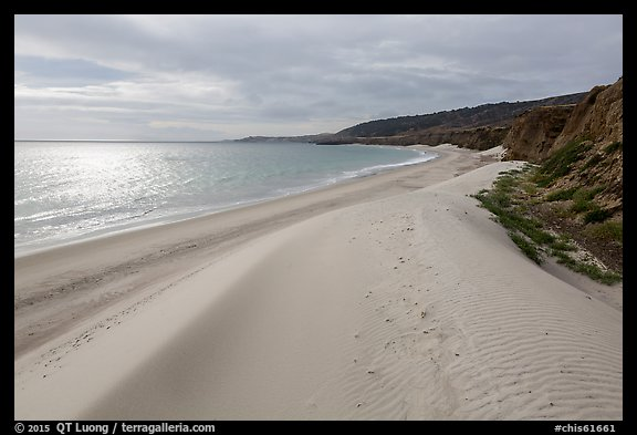 Dunes and sunlight, Water Canyon Beach, Santa Rosa Island. Channel Islands National Park (color)