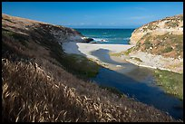 Mouth of Lobo Canyon, Santa Rosa Island. Channel Islands National Park ( color)
