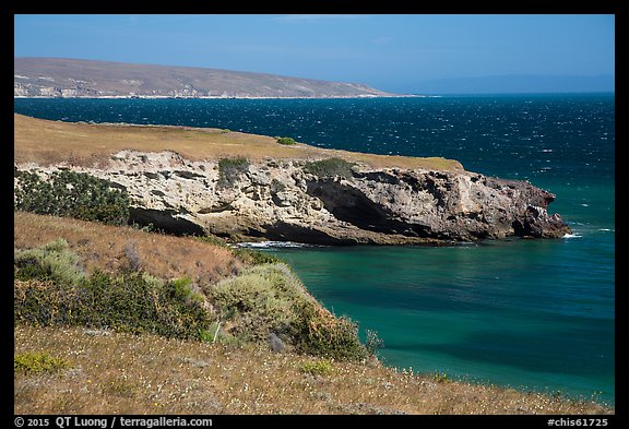 Black Point on windy day, Santa Rosa Island. Channel Islands National Park (color)